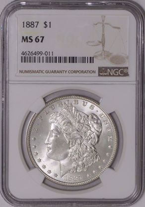 Picture of Morgan Dollars NGC MS67