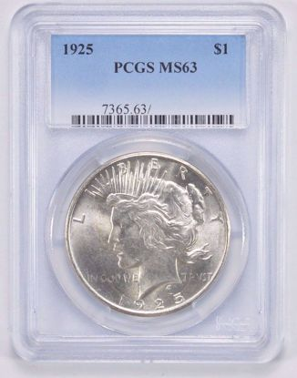 Picture of Peace Dollars PCGS MS63