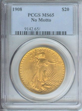 Picture for category St. Gaudens Gold Double Eagle No Motto