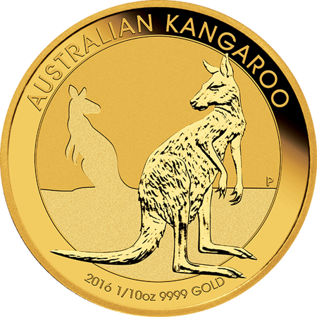 Picture for category 1/10 oz Australian Gold Kangaroo/Nugget BU
