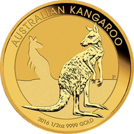 Picture for category 1/2 oz Australian Gold Kangaroo/Nugget BU