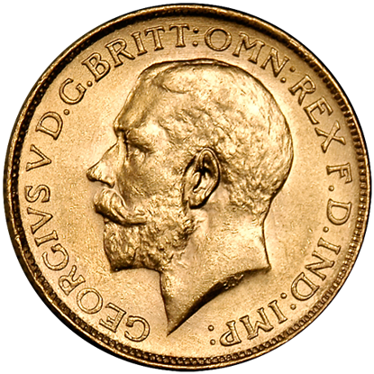 Picture of British Gold Sovereign King George V