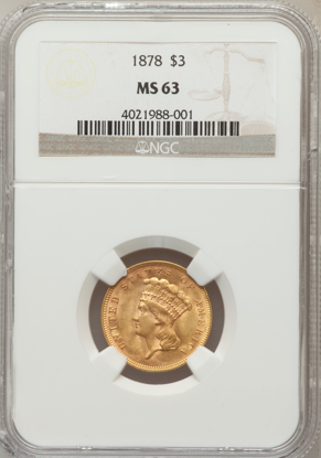 Picture of $3 Gold Princess (1854-1889) PCGS/NGC MS63 (Random Year)
