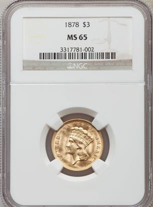 Picture of $3 Gold Princess (1854-1889) PCGS/NGC MS65 (Random Year)