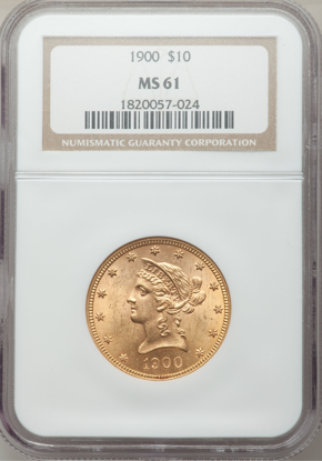 Picture of $10 Liberty Gold (1866-1907) PCGS/NGC MS61 (Random Year)