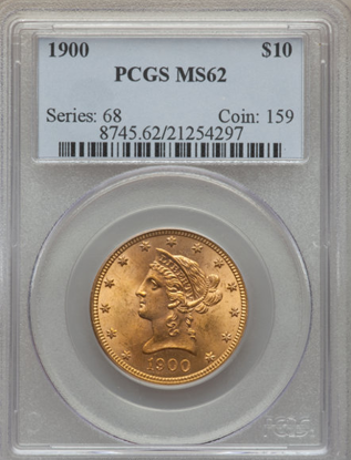 Picture of $10 Liberty Gold (1866-1907) PCGS/NGC MS62 (Random year)