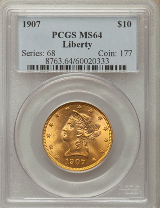 Picture of $10 Liberty Gold (1866-1907) PCGS/NGC MS64 (Random Year)