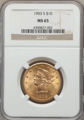 Picture of $10 Liberty Gold (1866-1907) PCGS/NGC MS65 (Random Year)