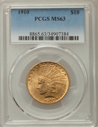 Picture of $10 Indian Gold (1907-1933) PCGS/NGC MS63 (Random Year)