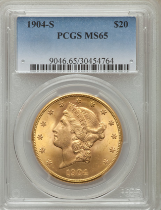 Picture of $20 Liberty Gold (1849-1907) PCGS/NGC MS65 (Random Year)
