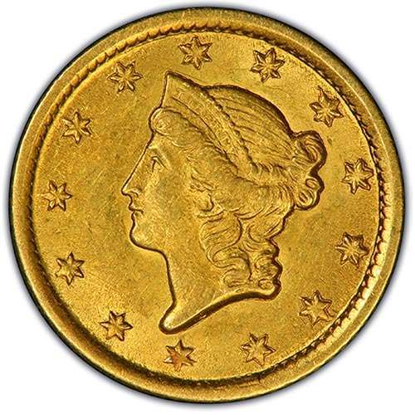 Picture of $1 Gold Liberty Head Type 1 AU (1849-1854) (Random Year)