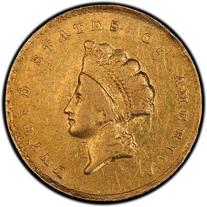 Picture of $1 Gold  Indian Head Type 2 VF (1854-1856) (Random Year)