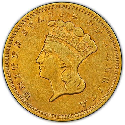 Picture of $1 Gold Indian Head Type 3 XF (1856-1889) (Random Year)