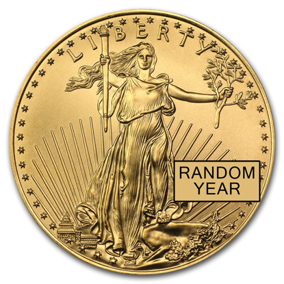 Picture of 1/2 oz American Gold Eagle (Random Year)