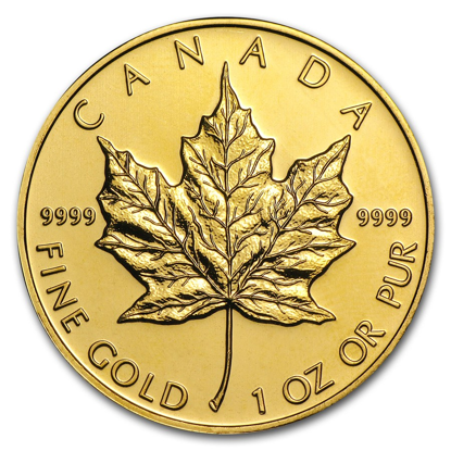 Picture of 1 oz Canadian Gold Maple Leaf (Random Year)
