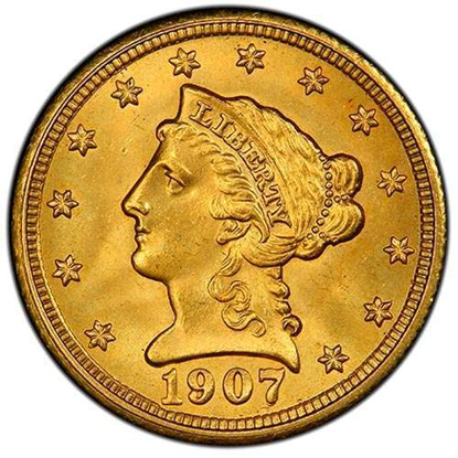 Picture of $2.50 Gold Liberty BU (1840-1907) (Random Year)