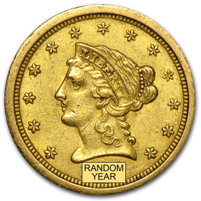 Picture of $2.50 Gold Liberty XF (1840-1907) (Random Year)