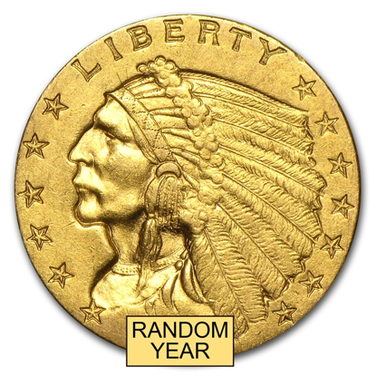 Picture of $2.50 Gold Indian AU (1908-1929) (Random Year)