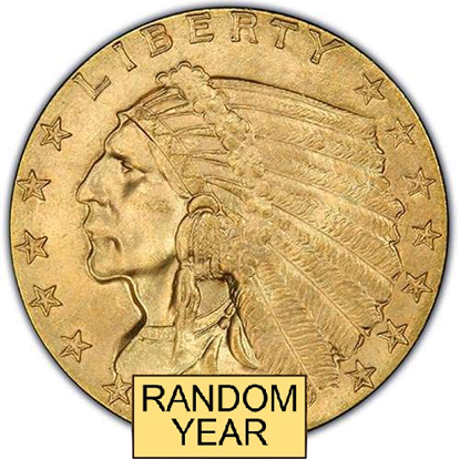 Picture of $2.50 Gold Indian BU (1908-1929) (Random Year)