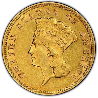 Picture of $3 Gold Princess AU (1854-1889) (Random Year)