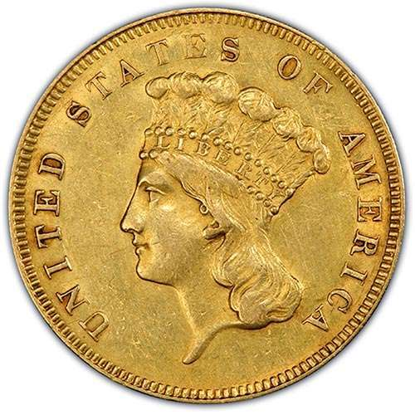 Picture of $3 Gold Princess XF (1854-1889) (Random Year)