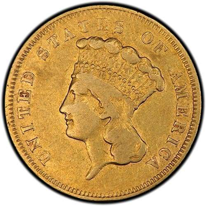 Picture of $3 Gold Princess VF (1854-1889) (Random Year)