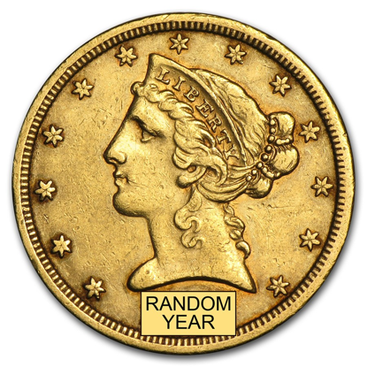 Picture of $5 Gold Liberty XF (1839-1908) (Random Year)