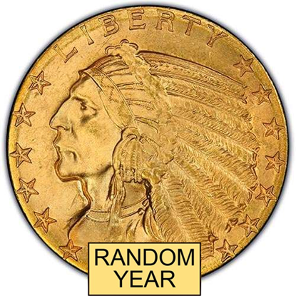 Picture of $5 Gold Indian BU (1908-1929) (Random Year)