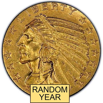 Picture of $5 Gold Indian AU (1908-1929) (Random Year)