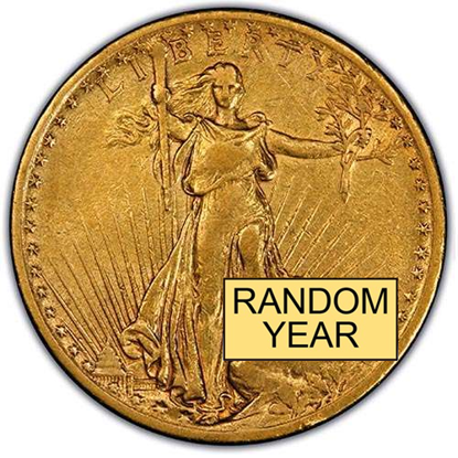 Picture of $20 Gold St. Gaudens VF (1907-1933) (Random Year)