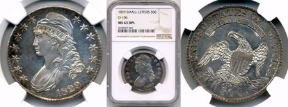 Picture of 1829 Capped Bust Half Dollar MS63DMPL NGC
