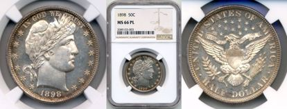 Picture of 1898 Barber Half Dollar MS66PL NGC