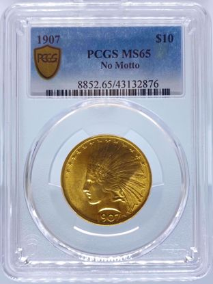 Picture of 1907 NM $10 Indian MS65 PCGS